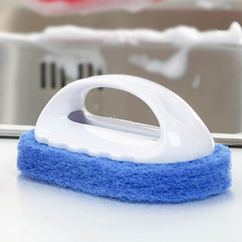 attrezzo della cucina manico in plastica spugna da bagno spazzola di pulizia piastrelle di vetro pulire