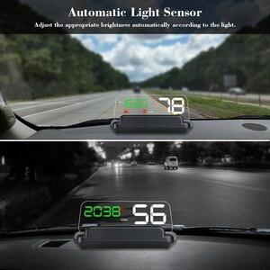 Image 4 - T900 HUD HeadUp Display Auto Tachimetro GPS Parabrezza Proiettore Con Bordo di Riflessione A Specchio OBD2 Gauge Strumento di Diagnostica