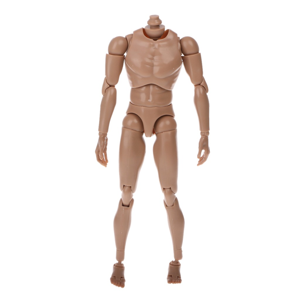 """New 1:6 Scale 12/"""" Removable Male Body Action Figure Narrow Shoulder Toy UK"""