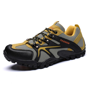 Breathable Mens Hiking Shoes Lace Up Camping Tourism Gray Trekking Sneakers Colombia Lightweight Climbing Sneaker Man Zapatillas sneakers
