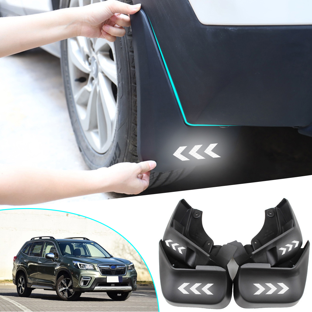 Mud Flaps Splash Guards for Subaru Forester SK 2018 2019 Car Wheel Custom Mudflaps Front Rear MudGuards Premium Heavy Duty Rally Armor Fender 4PCS