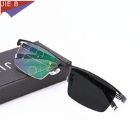 2991e48747 Fashion Transition Sunglasses Photochromic Progressive Reading Glasses Men  Multifocal Points For Reader Near Far Sight Diopter