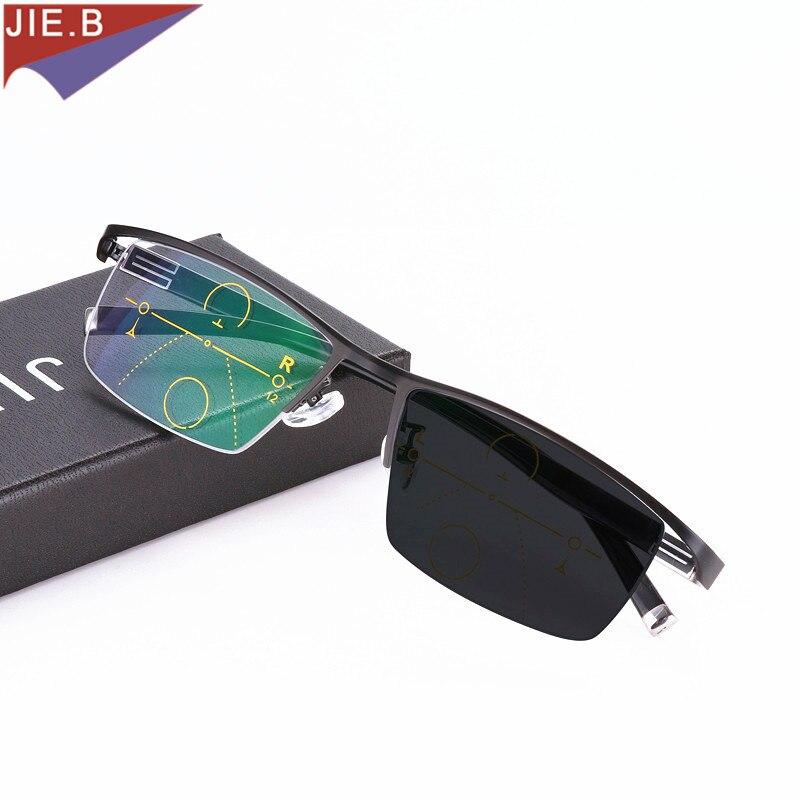 b172632537 Moda Occhiali Da Sole Fotocromatiche Progressive Occhiali Da Lettura Uomini  Multifocali Transizione Punti per il Lettore Vicino Lontano vista diottrica