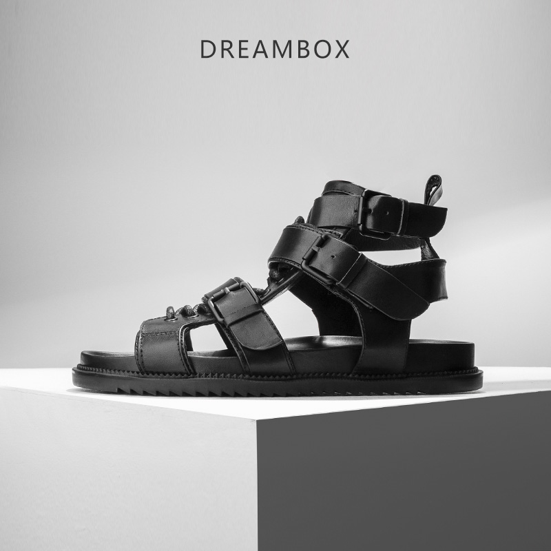 dreambox Summer Europe and the United States open toe of the men's leather strap with high sneaker for Roman sandals чулки giulia emotion размер 1 2 плотность 20 den playa