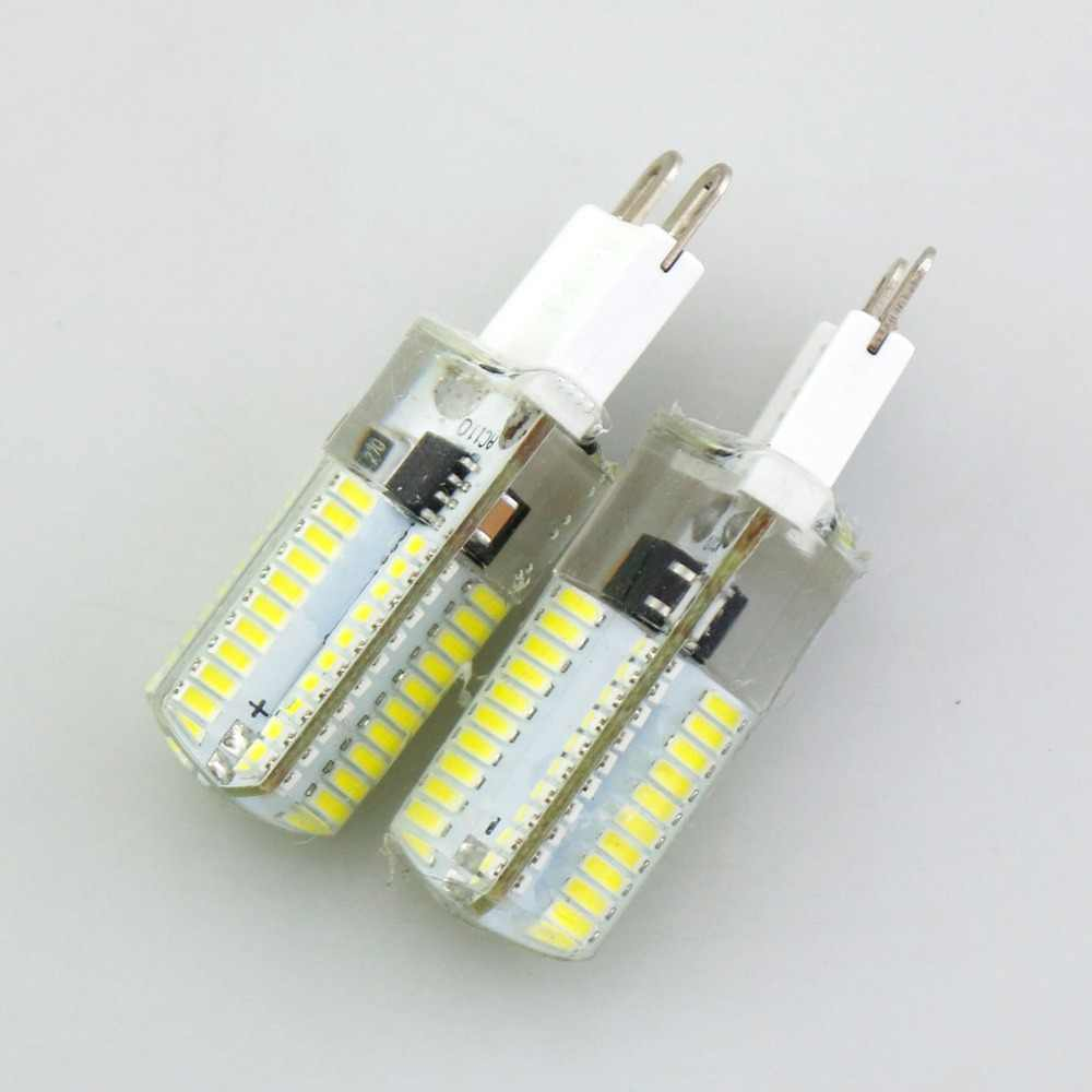 Silicone LED Corn Bulbs E11 E12 E14 E17 G4 G8 G9 LED Bulb Lamp 220V 110V 64Leds Dimmable Chandelier Replace 40W Halogen Lamps