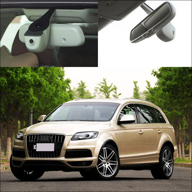 For Audi Q7 2011 / 2014 APP Control Car wifi DVR Car Driving Video Recorder Novatek 96655 Car black box Keep Car Original Style