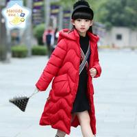 Child Jacket For 3 16 Years Girls Winter Coat 2017 Long Style Children Clothing Kids Hooded
