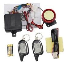 Two Way Motorcycle Alarm Anti-theft System With Shock Sensor 2 Way Motorbike Security Alarm Long Range Remote Engine Start/Stop