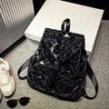 Высокое Качество Лакированной Кожи Рюкзак 2016 мужская Повседневная Daypacks Студент Школьные Сумки Для Подростков Милый Ромб Туристические Рюкзаки