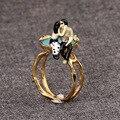 France Les Nereides Lovers Kissing Ring For Women Romantic Elegant Blue Gem Brand Rings Size 8