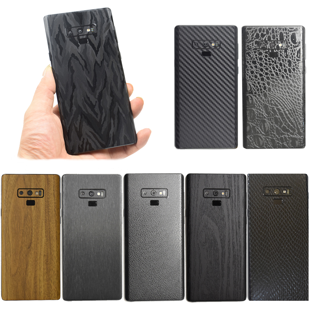 3D Carbon Fiber / Leather / Wood Skins Protective Phone Back Cover Stiker For SAMSUNG <font><b>Galaxy</b></font> <font><b>S10</b></font> Plus S10e Note 9 8 S9+ S8 Plus image