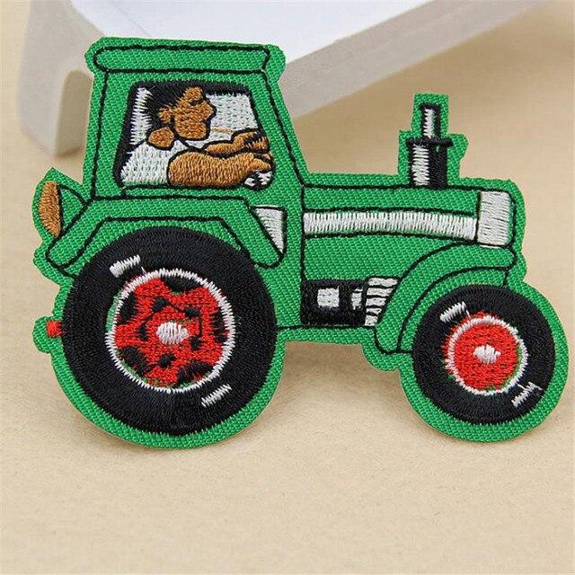 Wanita/Pria/Anak/Bayi traktor Petani Besi di patch untuk pakaian menghadapinya Applique bordir patch Stiker Diy untuk pakaian