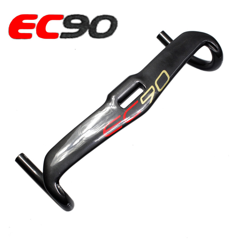 2017 New EC90 carbon fiber road bicycle thighed handle carbon handlebar road bike Ultralight handlebar 400 420 440M carbon drop handle bars road bike handlebar matt or gloss black 31 8 420mm