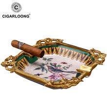 Большой диаметр дыма корыта костяного фарфора сигары Пепельница