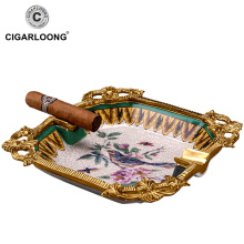 large diameter smoke trough bone china cigar ashtray CE-0305