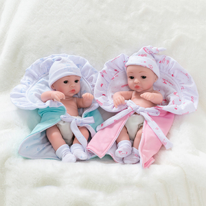 Image 2 - 10inch Full Silicone Reborn Baby Dolls Alive Lifelike Mini Real Dolls Realistic Bebes Reborn Babies Toys Bath Playmate Gift