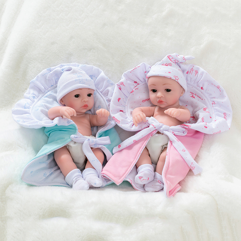 10inch Full Silicone Reborn Baby Dolls Alive Lifelike Mini Real Dolls Realistic Bebes Reborn Babies Toys Bath Playmate Gift Lahore