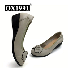 100% genuine leather women high heels handmade  fashion women shoes high heel black slip on casual wedges women pumps