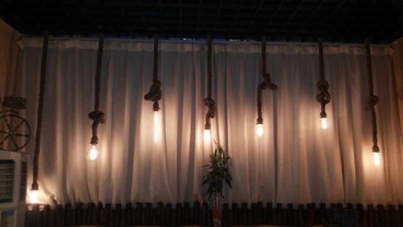 빈티지 로프 펜던트 조명 램프 로프트 크리 에이 티브 개성 산업 램프 에디슨 전구 아메리칸 스타일 거실 장식