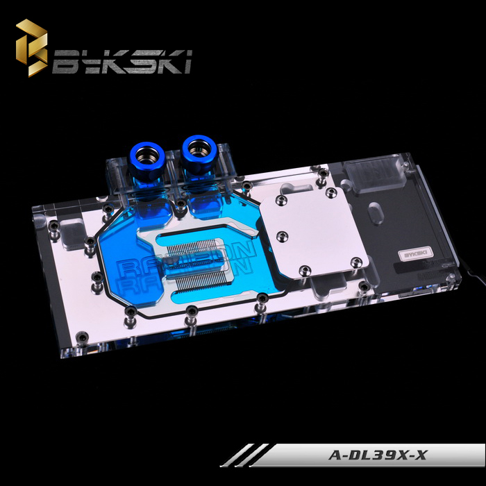 Bykski A-DL39X-X for Powercolor R9 390X 290X VGA Water Cooling Block цена