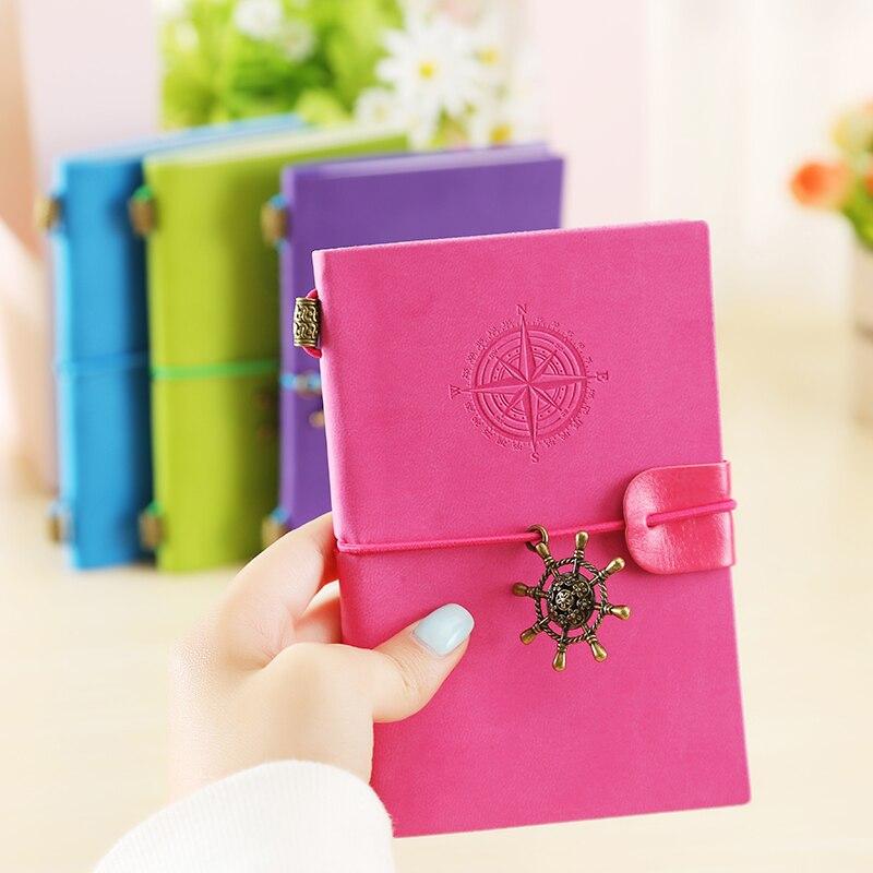 Korean PU Leather Sketchbook Bullet journal Notebook paper Weekly Planner Accessories Stationery Diary Agenda Travel Journal1712 все цены
