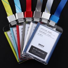DEZHI-Brand New Products ID IC Card Case office pass card lowest price of badge holder with colorful lanyard,can custom the LOGO