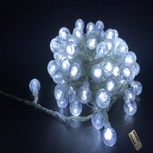 YIcolor 7.5M Remote Crystal Ball 50LED String Lights Flash  Fairy Garland For Guesthouse Garden Christmas Wedding Party Decor