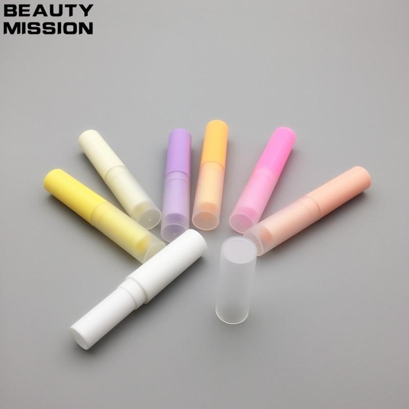 MISSION de beauté 100 Pcs/lot 4 ML vide rouge à lèvres Tube en plastique baume à lèvres conteneur petit cosmétique rouge à lèvres brillant sous-embouteillage