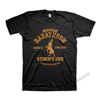 Game of thrones House Baratheon T Shirts black stag sigil tees Ours is the Fury T shirt