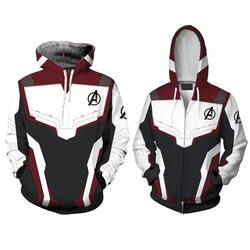 Для мужчин женщин Мстители Endgame Realm косплэй толстовки 3D пуловер Толстовка Quantum Realm супергероя куртка на молнии Костюмы