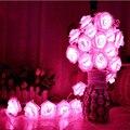 Luminaria 10 m Batería Operado LLEVÓ Luces de cadena Romántico Rose garland Cortina de la lámpara de iluminación del día de Fiesta de Navidad de hadas de la boda