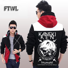Tokyo Ghoul Jacket Men autumn and winter Coat Kaneki Ken Printed Hoodies and Sweatshirts