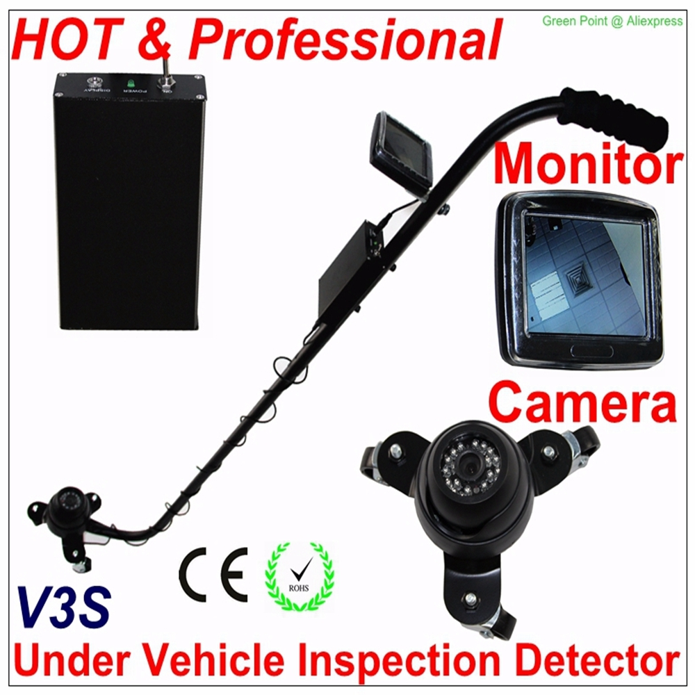 New Arrival V3S Under Vehicle Inspection Detector Car Inspection Mirror with Camera and LCD Monitor