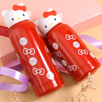 Mini Cute Fashion 304 Stainless Steel Vacuum Flasks Japanese Men And Women Students Portable Pink Thermoses