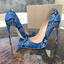 Free shipping  fashion women pumps snake printed blue leather pointed toe high heels shoes pumps 12cm 10cm 8cm Stiletto free shipping fashion women pumps casual green patent leather printed pointed toe high heels shoes 12cm 10cm 8cm stiletto heels