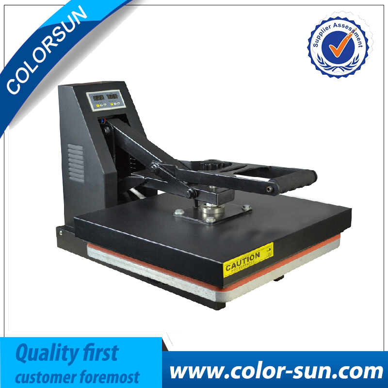 hot sell flat heat press machine for slipper, t-shirt, phone case and so on (38*38) cheap manual swing away heat press machine for flatbed print 38 38cm