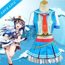 Anime Love Live Umi Sonoda cosplay LoveLive Bowknot Capa Uniforme de Marinero Tapa Abrigo Falda Animado de Halloween Disfraces Cosplay