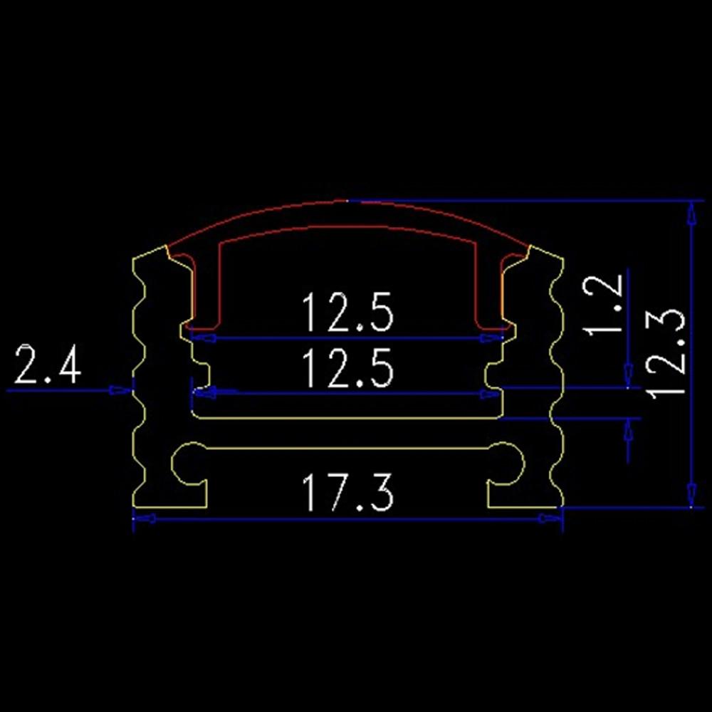 30pcs / lot 1 метрлік алюминий профиль 10мм - LED Жарықтандыру - фото 2