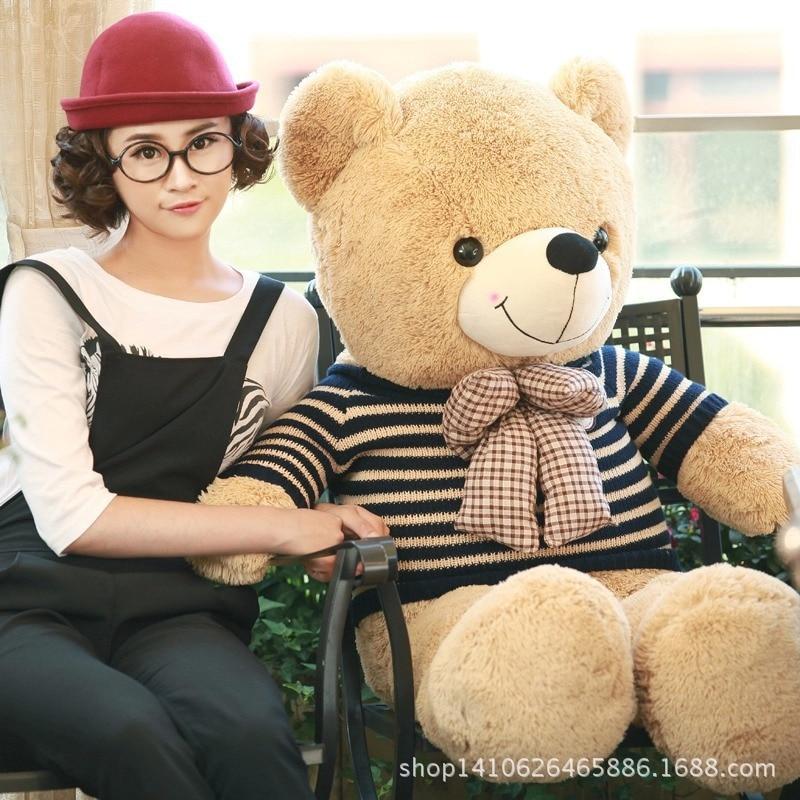 80 cm géant grande taille rétro pull ours en peluche jouets en peluche 6 style prix le plus bas cadeaux d'anniversaire de noël