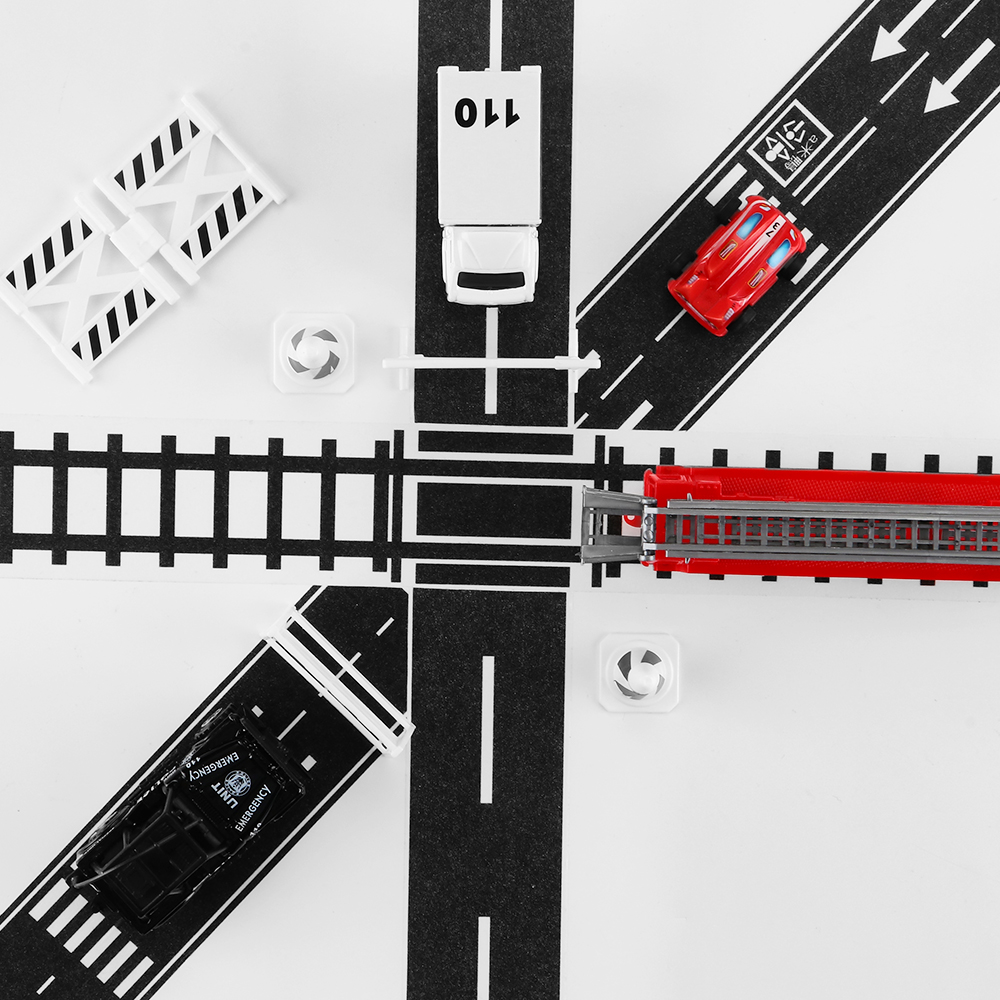 45x5m Traffic Road Tape Wide Toy Railway Road Paper Washi Tape Wide Creative Roads Adhesive Masking Tape Scotch Road For Kids