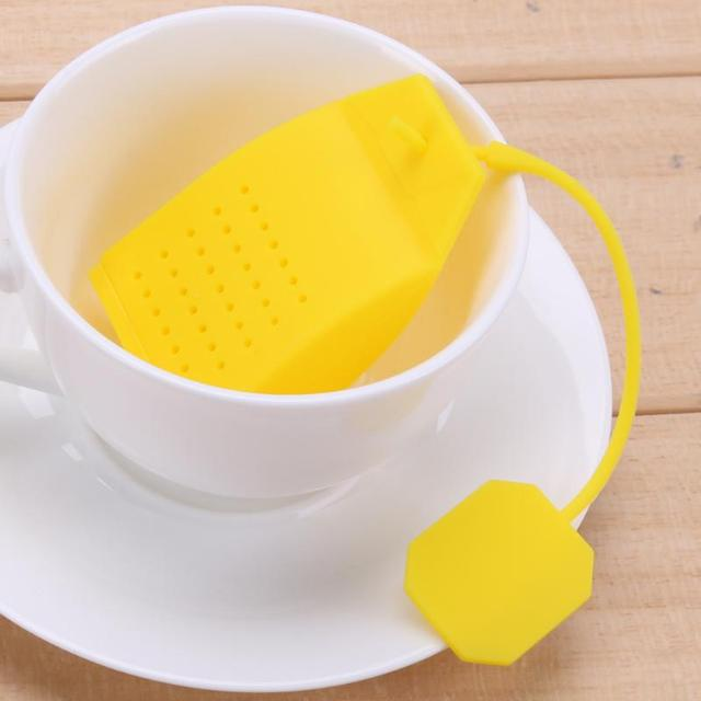 1pc Creative Tea Strainer Bag Colorful Food Grade Silicone Heat Resistant Coffee Filter Infuser