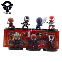 7pcs Set Anime Marvel Figma Spiderman Figures The Amaziing Spiderman Mini Pvc Action Figure Toys Doll