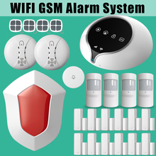 Etiger WIFI GSM Alarm Security System Wireless Outdoor Flash Siren Several Door Sensor Triggered Host Alarm Emit Alarm Sounds