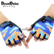 Детские перчатки без пальцев, Нескользящие ультратонкие детские дышащие перчатки с открытыми пальцами для мальчиков и девочек, Luvas De inverno