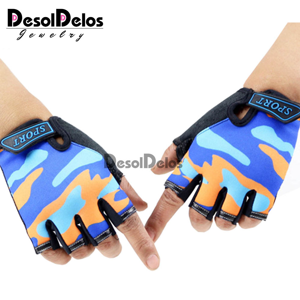 Fingerless Kids Gloves Non-Slip Ultrathin Children Half Finger Breathable Gloves For Boys Girls Luvas De Inverno