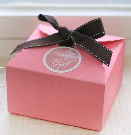 Korea Style Cute Pink Cake Box Candy Box Gift Package Free