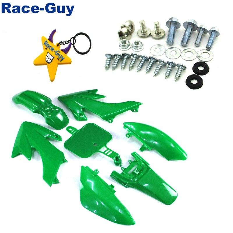 Комплект пластиковых обтекателей для крыльев и крепежных винтов, зеленый цвет, для Honda CRF50, XR50, 50cc, 70cc, 90cc, 110cc, 125cc, 140cc, 150cc, 160cc, Китай
