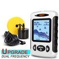 LUCKY FF718D эхолот портативный рыболокатор 200 кГц/83 кГц двойной звуковой частоты 100 м эхолот для рыбалки на русском языке