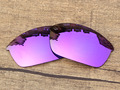 Plasma Purple Mirror Polarized Replacement Lenses For Flak Jacket Sunglasses Frame 100% UVA & UVB Protection