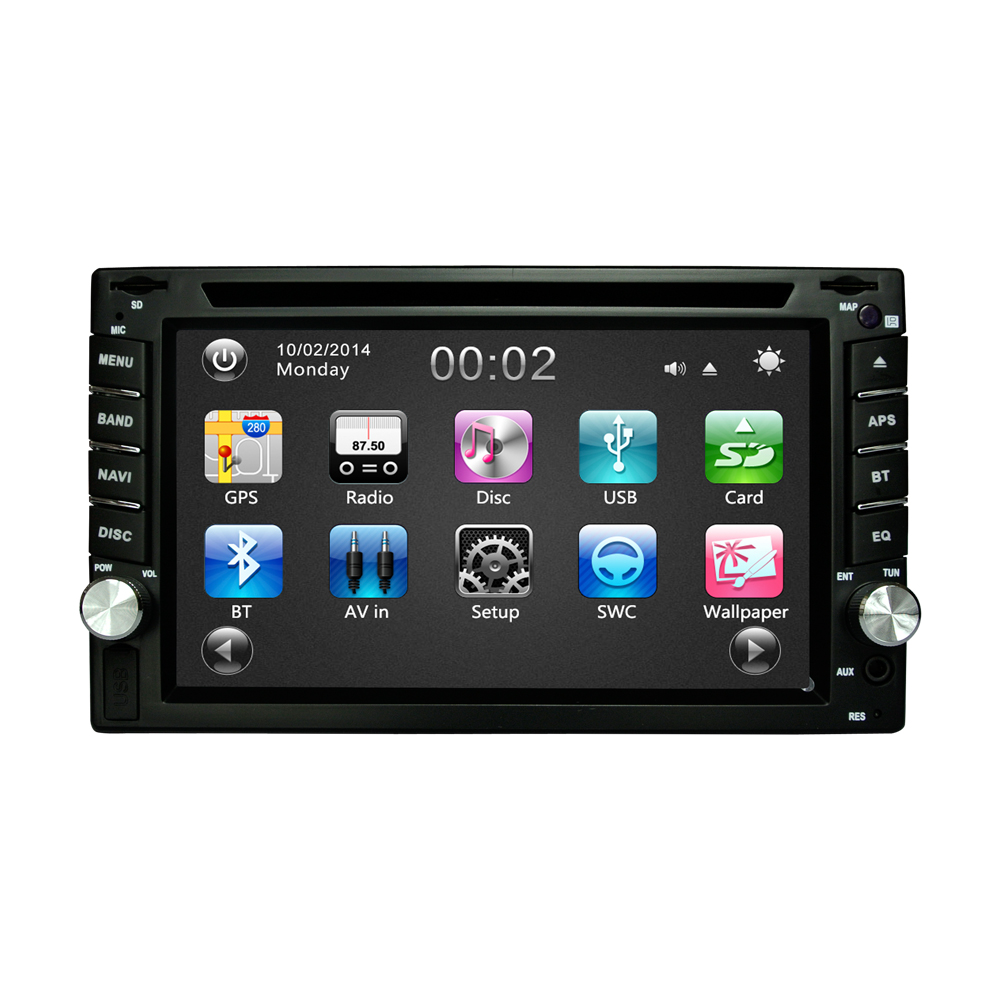 6.2 inch Car DVD GPS Navigation 2DIN Car Stereo Radio GPS Bluetooth USB/SD Universal Player